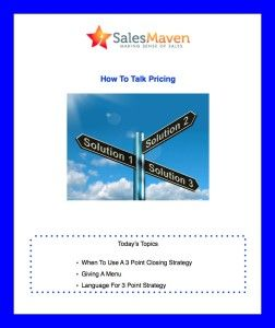 How To Talk Pricing 2 Sales Trainings