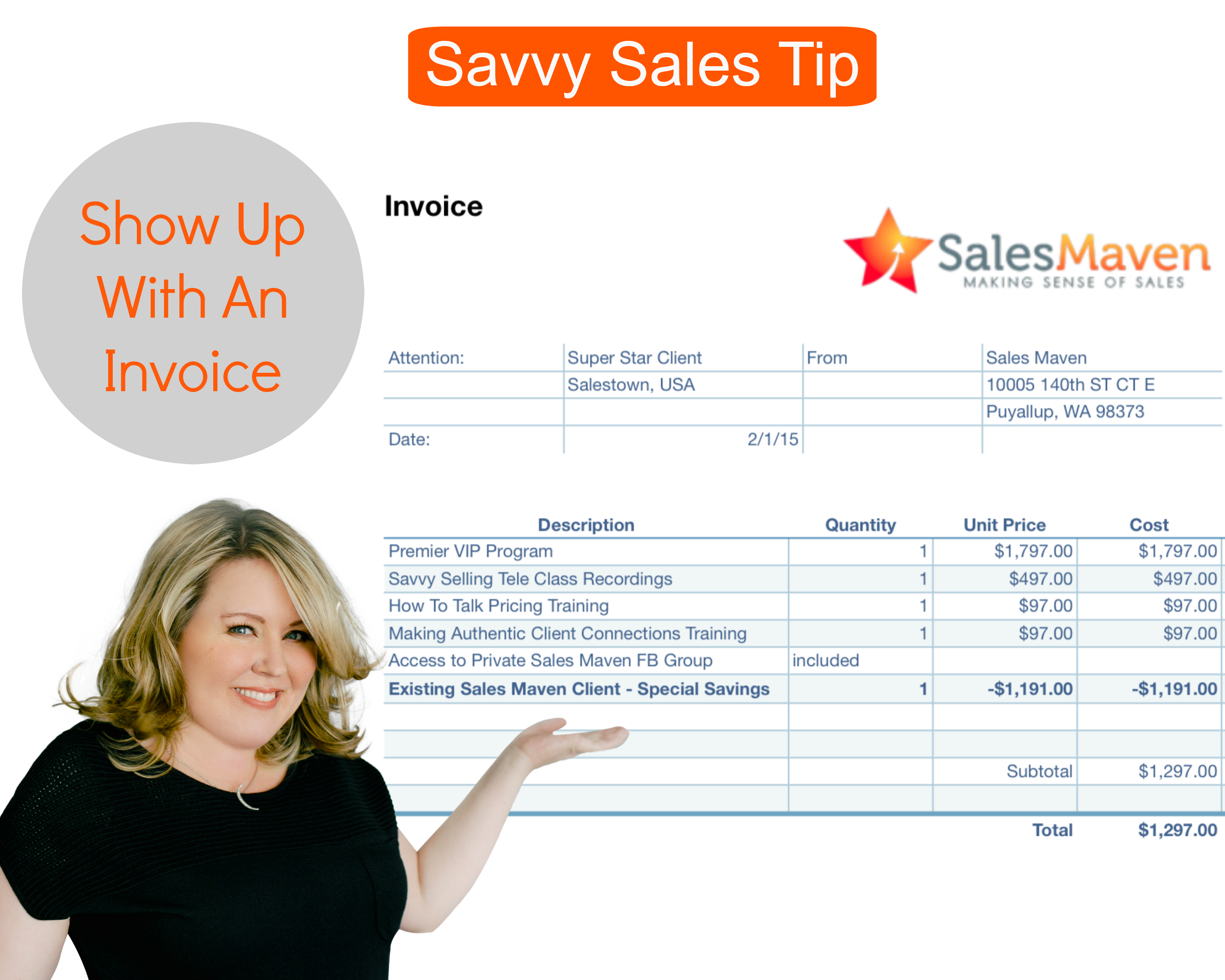 Savvy Sales Tip - Getting Paid Without Asking For Money