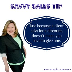 Savvy Sales Tip- Discount
