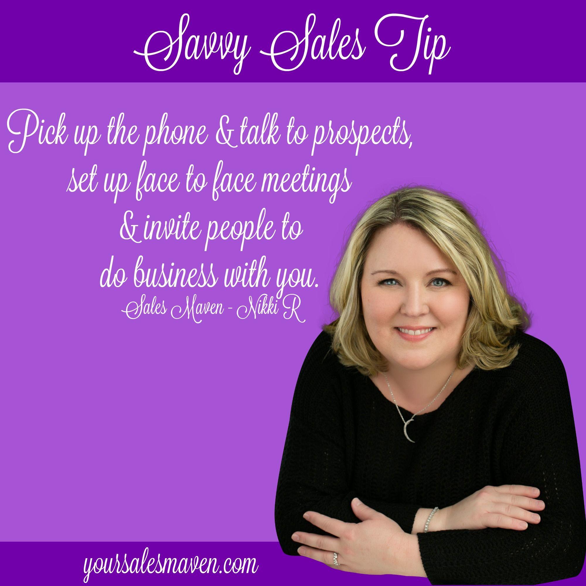 Sales Maven, Nikki Rausch, Savvy Selling, Sales Tip, Sales Training