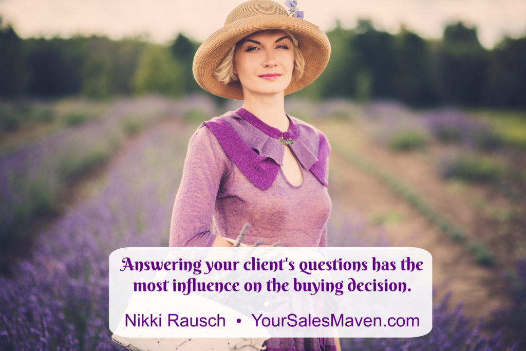 Closing the sale, Nikki Rausch, Sales Maven, Blog, Weekly Sales Tip