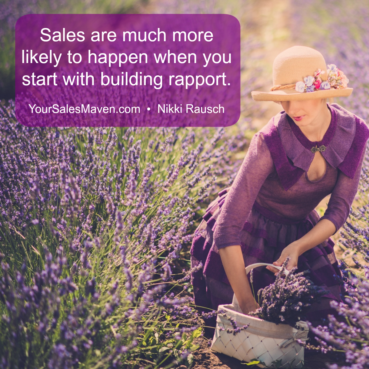 selling to women, rapport, sales training, selling skills, Sales Maven, Nikki Rausch