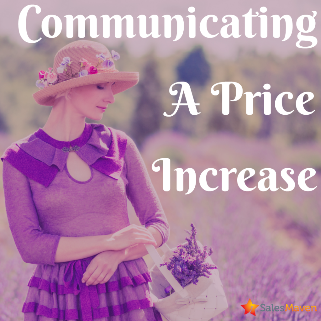 increasing pricing, sales training, price increase, communicating pricing changes
