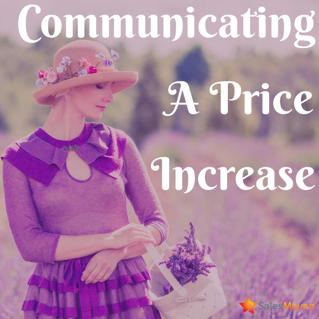 increasing pricing, sales training, price increase, communicating pricing changes