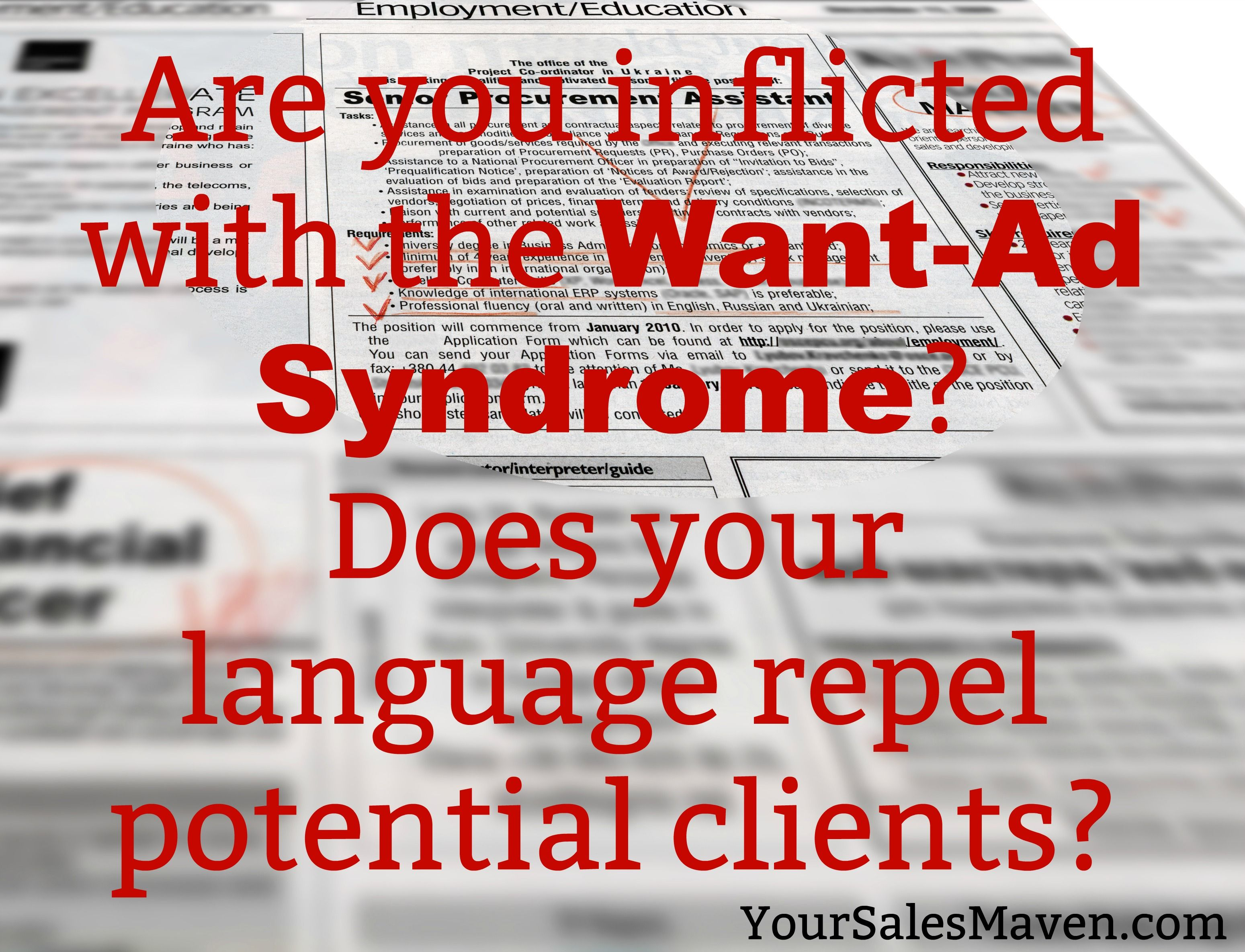 How The Want-Ad Syndrome Is Keeping You Small