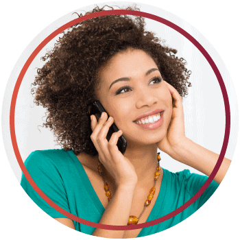 Young woman on the phone converting consultations