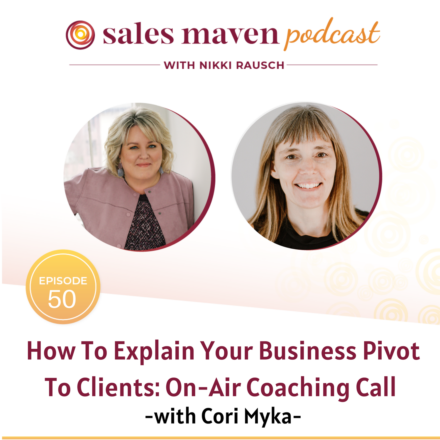 Sales Maven Podcast - How to explains your business pivot to clients with Cori Myka