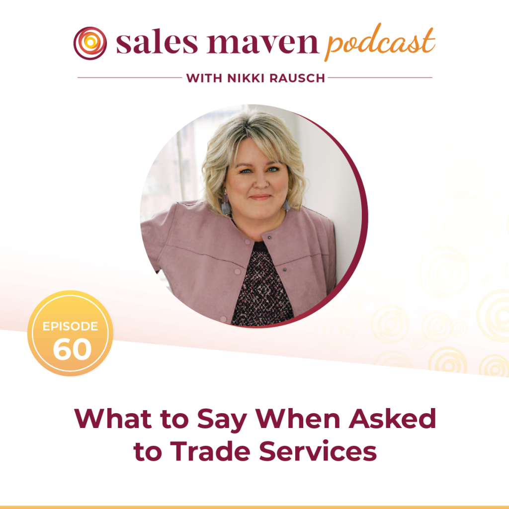 what to say when asked to trade services